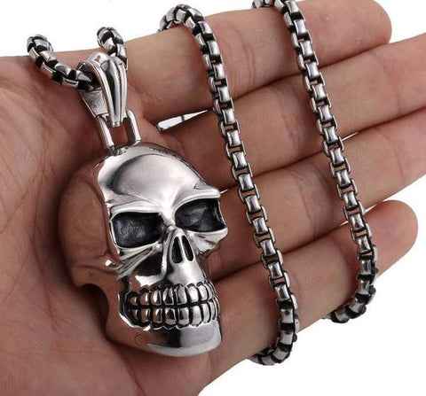 Skull Silver Necklace Pendant