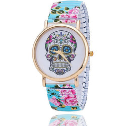 New Fashion Skull Flower Wristwatch