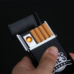 Cigarette Case + Rechargeable E. Lighter - Win N Win