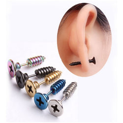 Men's Punk Ear Stud Earrings Unisex - Win N Win