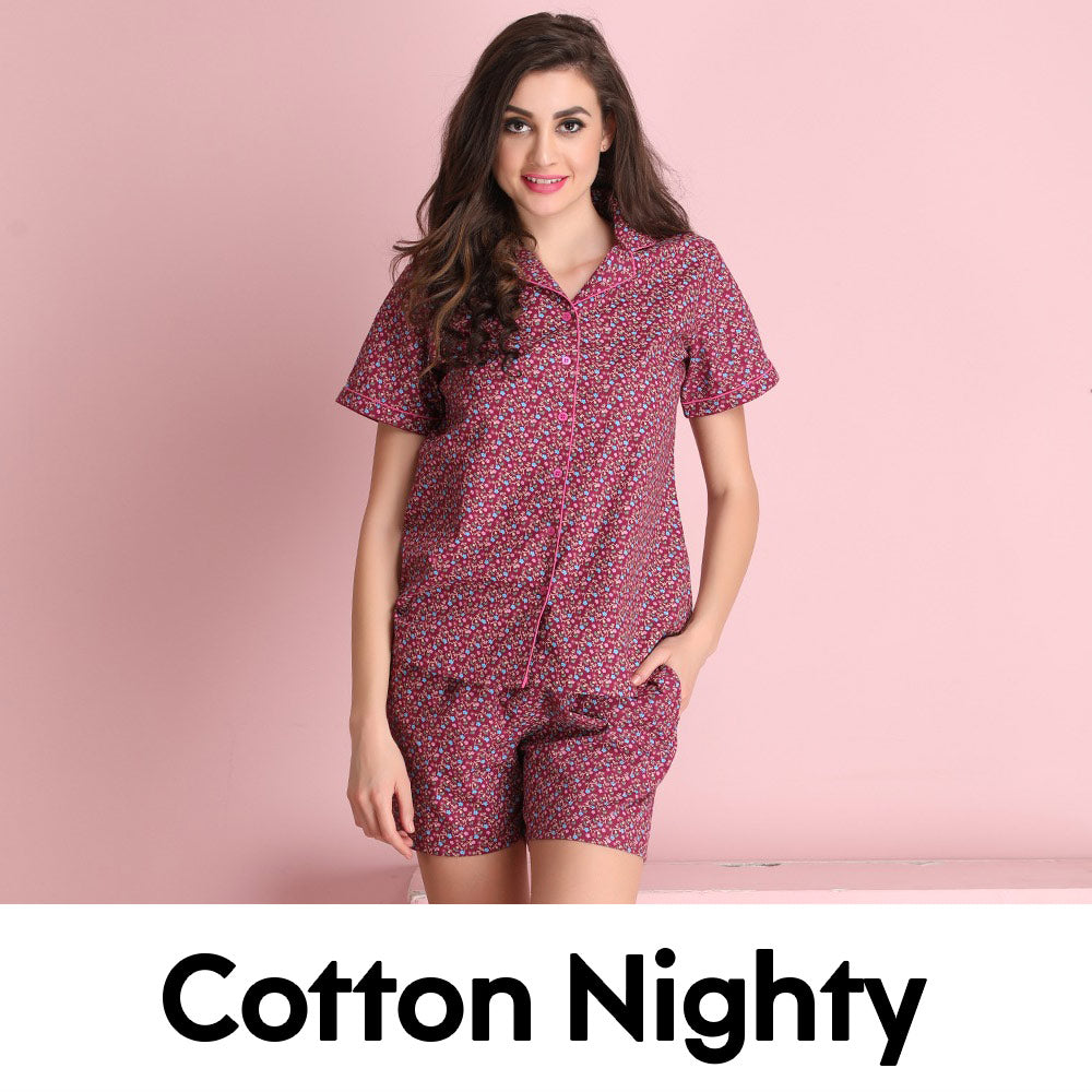 Cotton Nighty Online Shopping In Pakistan » Buy Cotton