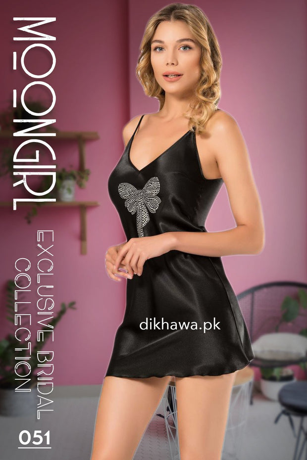 Moongirl - Exclusive Bridal 2Pc Short Nighty Wedding Honeymoon Nighty Set 051 - Turkish Brand
