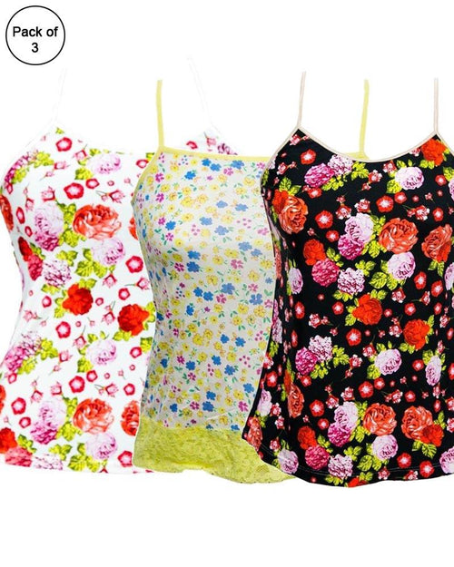 Pack of 3 Flowers Printed Fancy Casual Wear Camisole