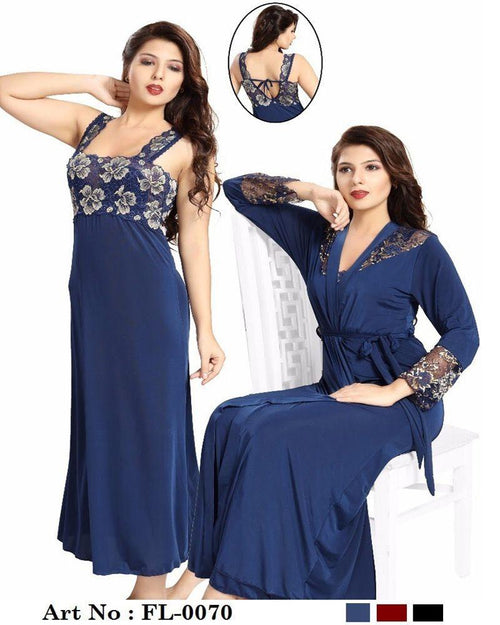 Buy Wedding Nighty - FL-0070 - Flourish 2 Piece Nightwear Online in Karachi, Lahore, Islamabad, Pakistan, Rs.2300.00, Nighty Sets Online Shopping in Pakistan, Flourish, Bridal Nighty, buy nighties online, buy nightwear in pakistan, casual nighty, cf-color-black, cf-color-blue, cf-color-red, cf-size-large, cf-size-medium, cf-type-nighty-sets, cf-vendor-flourish, comfortable nighty, fancy nighty, flourish ladies night suits, flourish nightwear, flourish nighty, flourish pakistan, Honeymoon Nighty, imported nighty, Lace Nighty, latest nighty in pakistan, long nighty, net nighty, nighty grown, nighty islamabad, nighty karachi, nighty lahore, nighty online shopping, nighty pakistan, polyester nighty, Sexy Nighties, sexy nighty, shop nighty online, silk nighty, sleeping nighty, stylish nighties online, transparent nighty, wedding nighty, woo_import_2, Online Shopping in Pakistan - NIGHTYnight