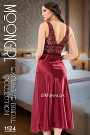 Buy Moongirl - Exclusive Bridal Wedding Nightwear 2Pc Long Nighty Set with Robe 1124 - Turkish Brand Online in Karachi, Lahore, Islamabad, Pakistan, Rs.7500.00, Ladies Nighty Sets Online Shopping in Pakistan, Moongirl, Brand_Moongirl, Bridal Nighty Women, Clothing, Colour_Maroon, Exclusive Lingerie, Fancy Nighty, Honeymoon Nighty, Lace Nighty, Lingerie & Nightwear, Long Nighty, Material_Lace, Material_Satin, Nightdress, Nightwear, Nighty, Nighty Sets, Size_Large, Size_Medium, Size_Small, Size_X-Large, Style_2020, Style_Branded, Style_Bridal, Style_Bridal Nighty, Style_Designer, Style_Fancy, Style_Fancy Nighty, Style_Honeymoon, Style_Honeymoon Nighty, Style_Imported, Style_Lace Nighty, Style_Long Nighty, Style, Online Shopping in Pakistan - NIGHTYnight