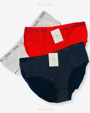 Pack of 3 - CK Polka Dotted Panty - Flourish CK Polka Dotted Panty Mix Colors - 444, 555, 666