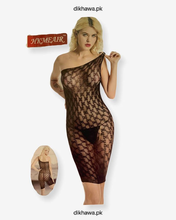 Hkmeair Khushi Print Sexy Net Bodystocking No 8081