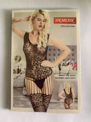 Hkmeair Khushi Print Sexy Net Bodystocking No 8029