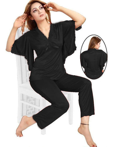 Black Nighty - FL-608 - Flourish 2 Piece Nightwear