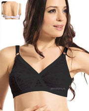 F Cross Bra - Flourish Bra - Net Bra See Through Bra Non Padded Non Wired Bra
