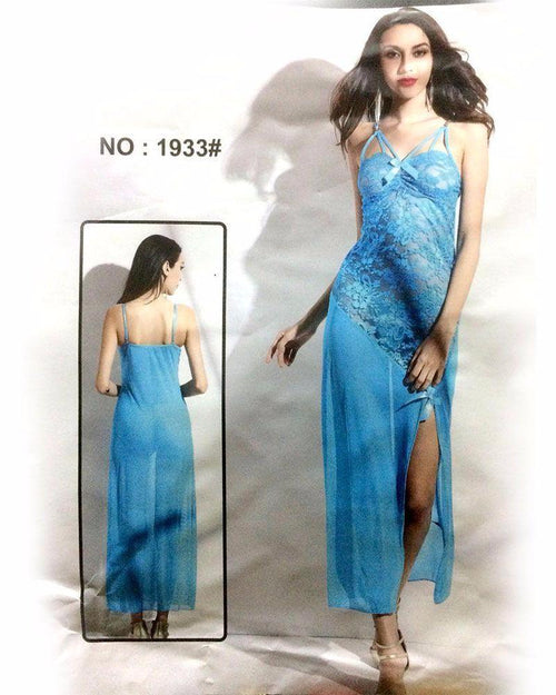 Bridal Long Net Nighty - MN - 1933 - Nighty - diKHAWA Online Shopping in Pakistan