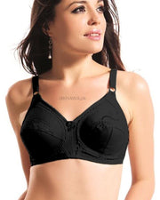 Citin Bra - Flourish - Black Bra - Non Padded & Non Wired Bra - Minimizer Bra