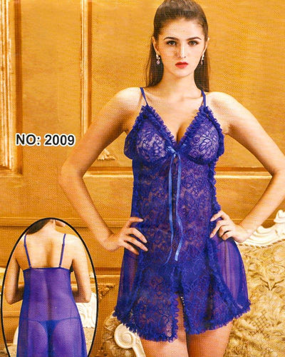 Bridal Sexy Transparent Short Lace Nighty - 2009