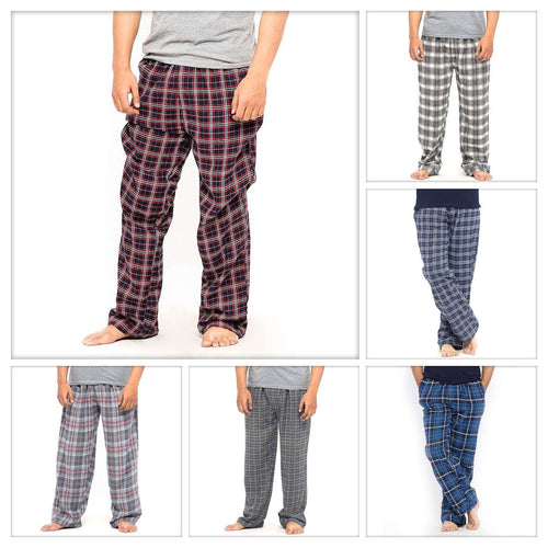 Pack of 3 Cotton Yarn Dyed Flannel Men's Pajama - Deal No.2 - Mens Pajama - NIGHTYnight Online Lingerie Store in Pakistan