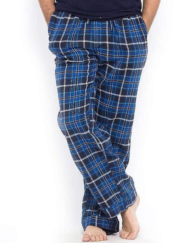 Pack of 2 - Men's Cotton Check Pajama - Cotton Yarn Dyed Flannel Men's Pajama MF-15