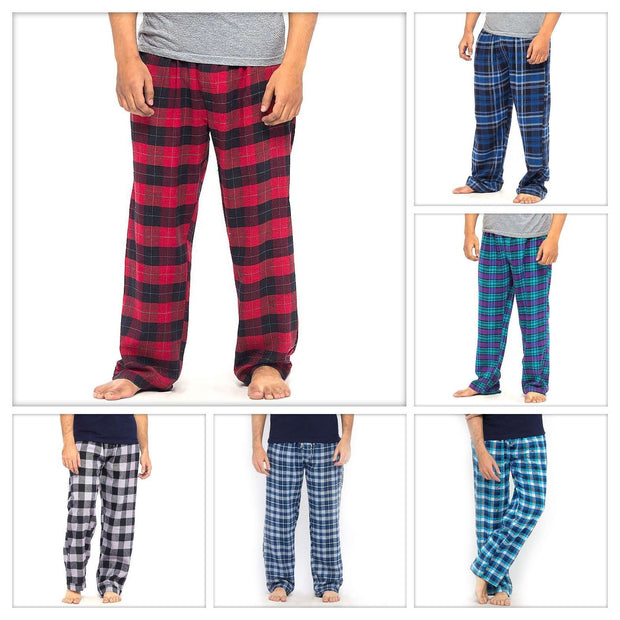 Pack of 3 Cotton Yarn Dyed Flannel Men's Pajama - Deal No.1 - Mens Pajama - diKHAWA Online Shopping in Pakistan