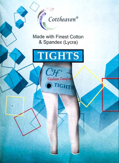 Cottheaven Women Tights White - Ladies Tights - diKHAWA Online Shopping in Pakistan