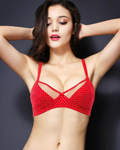 Vena Lingerie Soft Padded Bra Red - Bras - diKHAWA Online Shopping in Pakistan