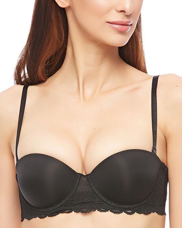 Daifuren 6009 Black Pushup Bra - Bridal Collection - Underwired Double Padded Bra