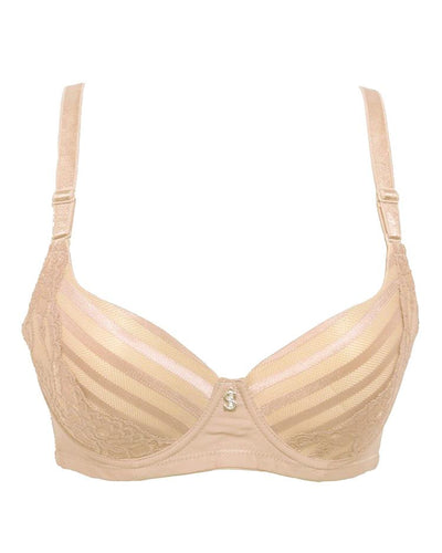 Stylish Bridal Collection Bra SH969 Skin - Single Padded,Under Wired Bra - By Sister Hood