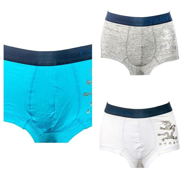 Pack Of 3 Men Cotton Boxer - Branded Boxer For Men - Ck - Calvin Klein