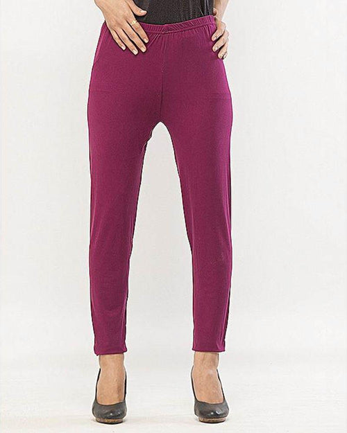 Plain Tights High Quality Fashion for Girls - ELS-8085-Maroon