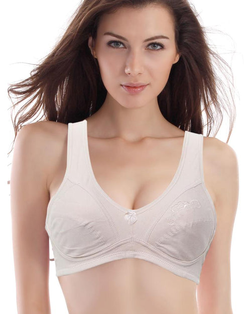 Skin Embroidered Bra - Cotton Bra - 305 - Non Padded - Thailand Bra