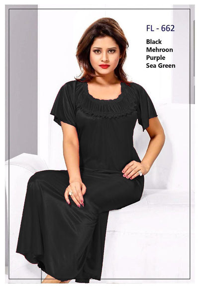 Buy Flourish Long Nighty - FL-662 - Silk Long Nighty - Flourish Online in Karachi, Lahore, Islamabad, Pakistan, Rs.1600.00, Ladies Nighty Online Shopping in Pakistan, Flourish, Brand_Flourish, Brand_Flourish Nighty, Clothing, Colour_Black, Colour_Green, Colour_Purple, Colour_Red, Lingerie & Nightwear, Long Nighty, Marteial_Standard, Material_Lace, Material_Silk, Nightwear, Nighty, Size_Large, Size_Medium, Size_Small, Style_2019, Style_2020, Style_Babydoll Nighty, Style_Basic Nighty, Style_Bridal Nighty, Style_Designer Nighty, Style_Everyday Nighty, Style_Fancy Nighty, Style_Honeymoon Nighty, Style_Imported Nighty, Style_Lace Nighty, Style_Long Nighty, Style_SALE, Style, Online Shopping in Pakistan - NIGHTYnight