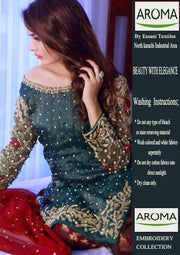 Aroma Net Dresses - Embroidered Chiffon Dupatta - Replica - Unstitched