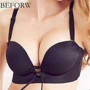 Black Sexy Figure Maintain Push Up  Bra - Wide Strip - Double Padded Bra