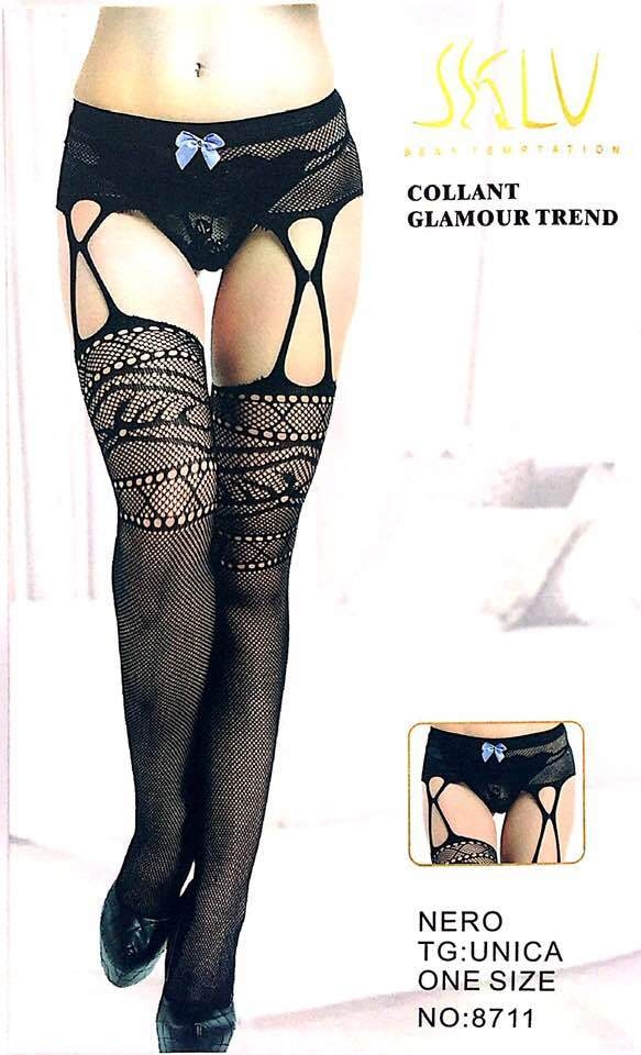 SKLU Fashion Figured Painty Hose Sexy Leg Stocking-8711