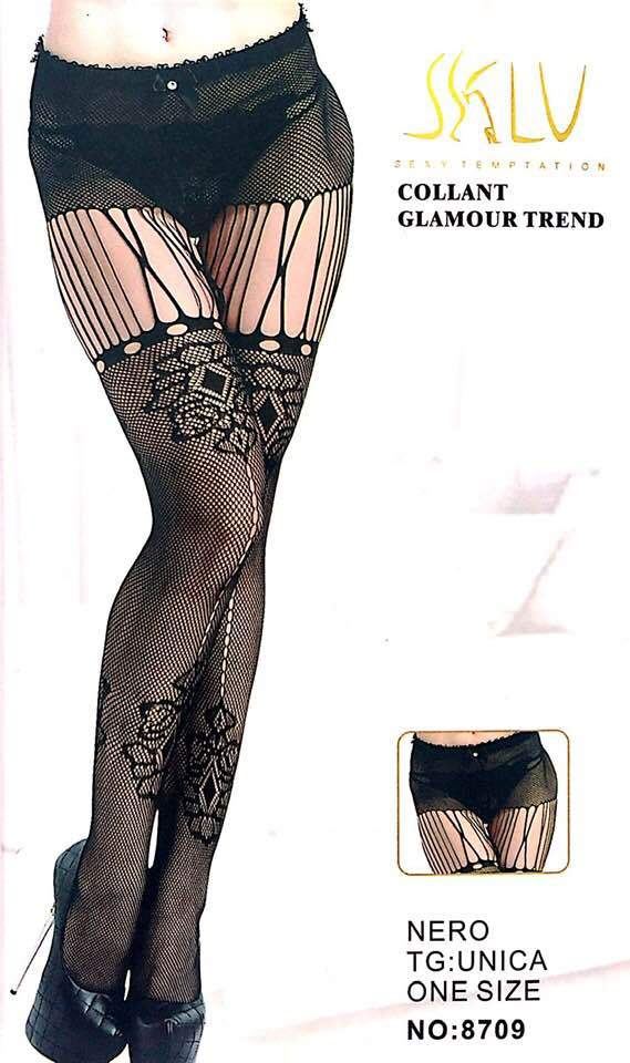 SKLU Fashion Figured Painty Hose Sexy Leg Stocking-8709