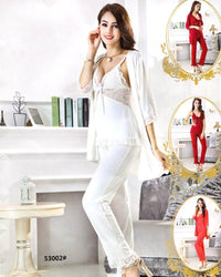 Buy 3 Pcs Slik Ladies Nightwear - 53002 Online in Karachi, Lahore, Islamabad, Pakistan, Rs.{{amount_no_decimals}}, Ladies Nighty Sets Online Shopping in Pakistan, Nighty Shop, best Nightwear Brands in pakistan, best Nighty Brands in pakistan, Branded Nightwear, branded nighty, Bridal Nighty, cf-color-black, cf-color-maroon, cf-color-pink, cf-color-purple, cf-color-white, cf-size-free-size, cf-type-ladies-nighty-sets, cf-vendor-nighty-shop, Clothing, fancy nighty, Honeymoon Nighty, imported nighty, Lace Nighty, Ladies Nightwear, ladies Nightwear pakistan, Ladies Nighty, ladies undergarment pakistan, Lingerie & Nightwear, net nighty, Nightwear, Nightwear Online Shopping, Online Shopping in Pakistan - NIGHTYnight