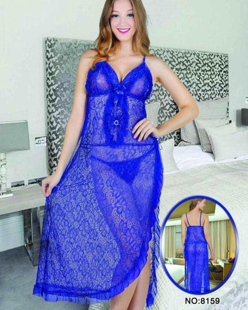 Bridal Sexy Short Lace Nighty - 8159