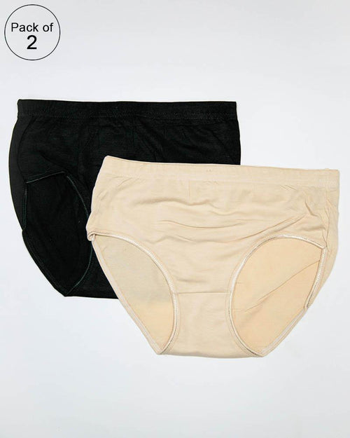 Pack of 2 Women Soft Cotton Brief – AF-112 – Mix Colors