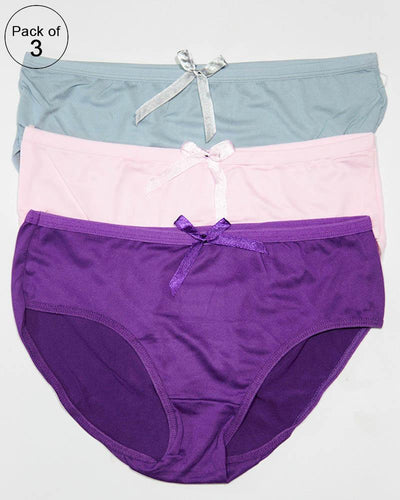 Pack of 3 Women Soft Cotton Brief Panty – AF-114 – Mix Colors