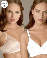 BHS Pack of 2 Non-Wired Non-Padded Full Cup Plus Size Silk Bra - 230447