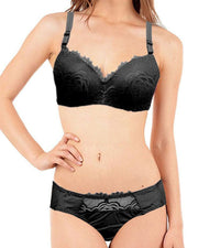 Buy Bridal Black 801625 Double Padded Pushup Bra Panty Set - By Senselle Online in Karachi, Lahore, Islamabad, Pakistan, Rs.1000.00, Ladies Bra Panty Sets Online Shopping in Pakistan, Senselle, Bra, Bra Panty Set, Bra Panty Sets, Branded Bra, Bridal Bra, cf-color-black, cf-size-38b, cf-size-40b, cf-type-ladies-bra-panty-sets, cf-vendor-senselle, Classic Bra, Clothing, Double Padded Bra, Everyday Bra, Fancy Bra, Fashion, Imported Bra, Lingerie & Nightwear, Party Bra, Push Up Bra, Undergarments, Underwired Bra, Women, Online Shopping in Pakistan - NIGHTYnight