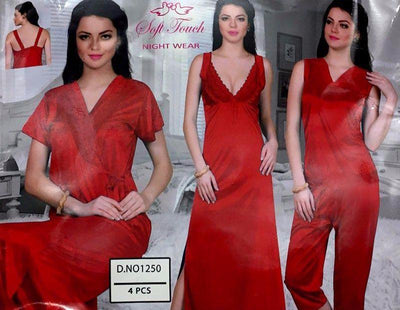 Hot Newly Wed Bridals And Honeymoon Nighty Sets - 1250 - 4 Pieces Nighty Sets - Nighty Sets - diKHAWA Online Shopping in Pakistan