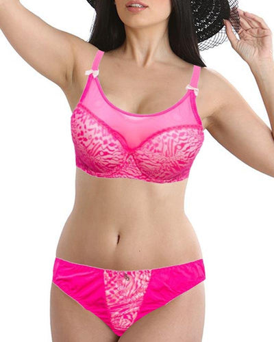 Bridal Skin & Pink L801601 Single Padded Bra Panty Set - By Senselle