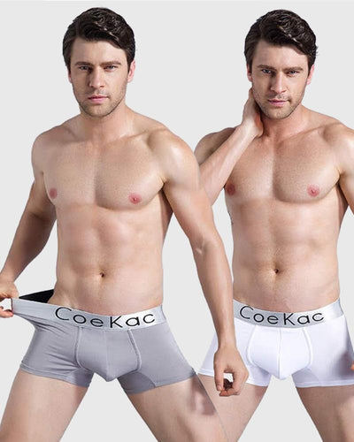Pack of 2 - Ck Mens Boxers - White & Grey + Mix Colours