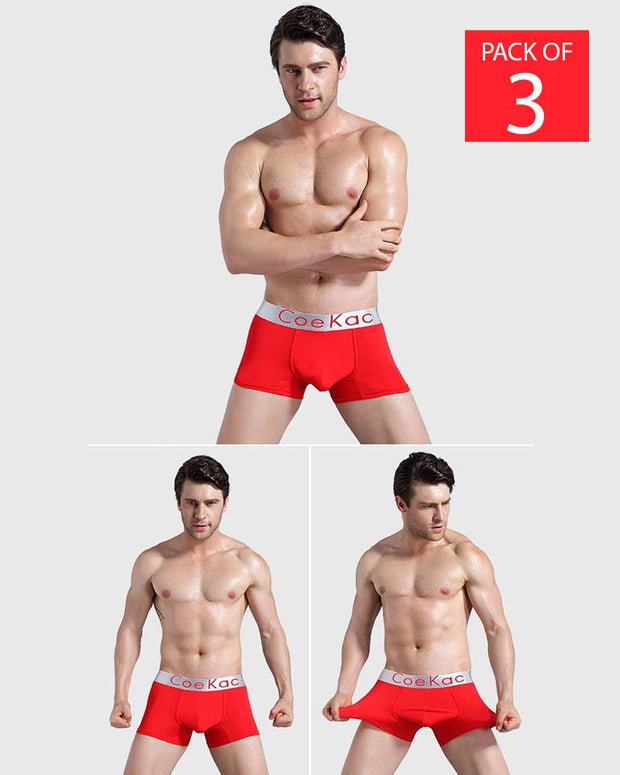 Pack of 3 - Ck Mens Boxers - Colourful - Breathable Mens Boxers
