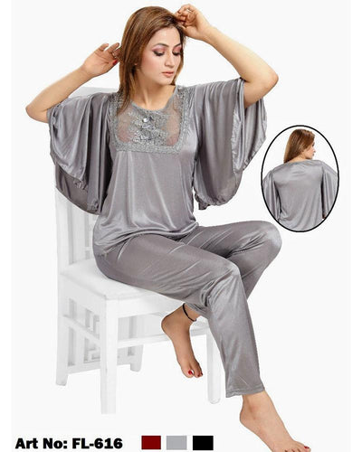 Flourish Nightdress - FL-616 - Ladies Nightdress - diKHAWA Online Shopping in Pakistan