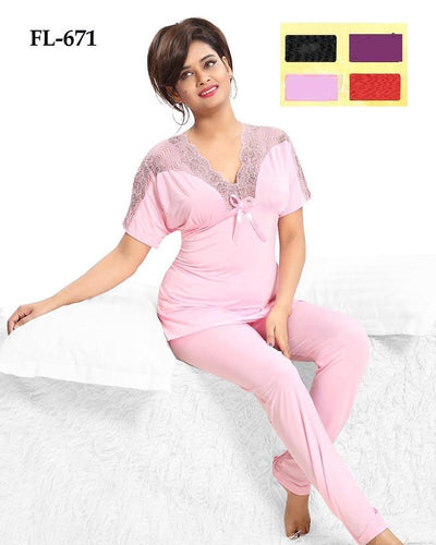 2 Pcs Nighty FL-671 - Flourish Exclusive Bridal Nighties
