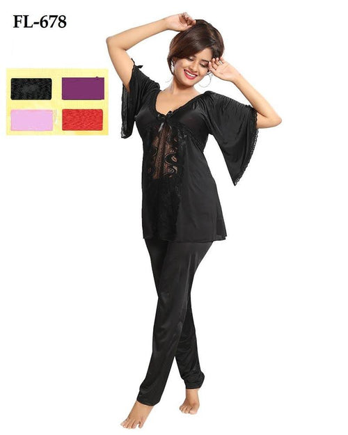 2 Pcs Nighty FL-678 - Flourish Exclusive Bridal Nighties