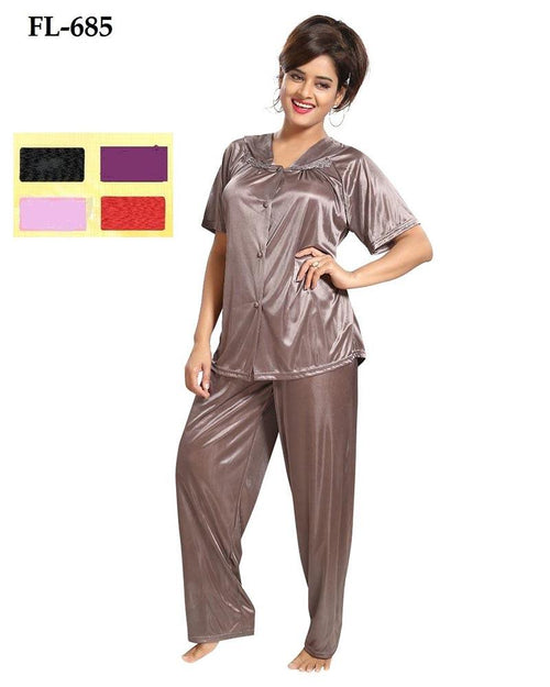 2 Pcs Nighty FL-685 - Flourish Exclusive Bridal Nighties