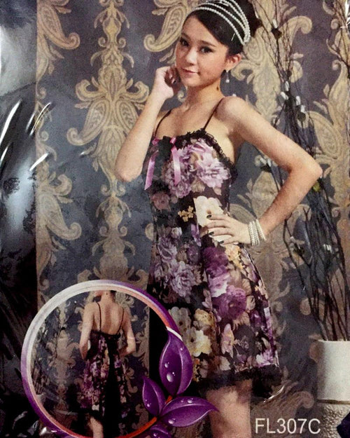 Buy Romantic Floral Print Short Nighty For Women - FL307C Online in Karachi, Lahore, Islamabad, Pakistan, Rs.900.00, Nighty Online Shopping in Pakistan, Sexy Lady, cf-type-nighty, cf-vendor-sexy-lady, Clothing, Nightwear, Nighty, Women, Online Shopping in Pakistan - NIGHTYnight