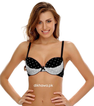 Victoria's Secret - Pushup Bra Panty Sets - Polka Dotted Lace Double Padded Bra