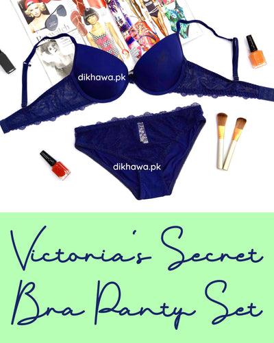 Victoria's Secret - Pushup Soft Padded Bra Panty Set - Plain Bra