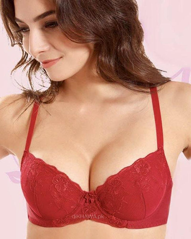 Cup Lace - W - Flourish Bra - Non Padded Underwired Fancy Bra
